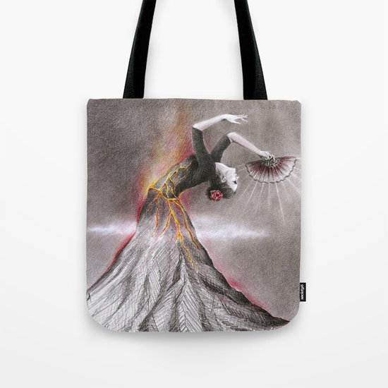 Dancing Volcano Tote Bag