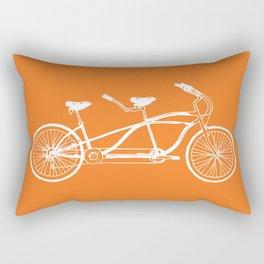 Tandem Bike Orange Rectangular Pillow