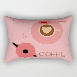 Love & Coffee Rectangular Pillow