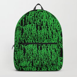 Cascading Wisteria in Green + Black Backpack