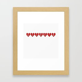 Goodbye Hearts Framed Art Print