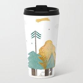 white fox Metal Travel Mug