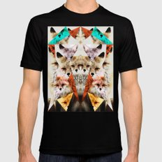 WHAT THE FOX SAY Mens Fitted Tee MEDIUM Black