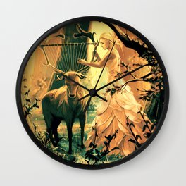 Feral Strings Wall Clock