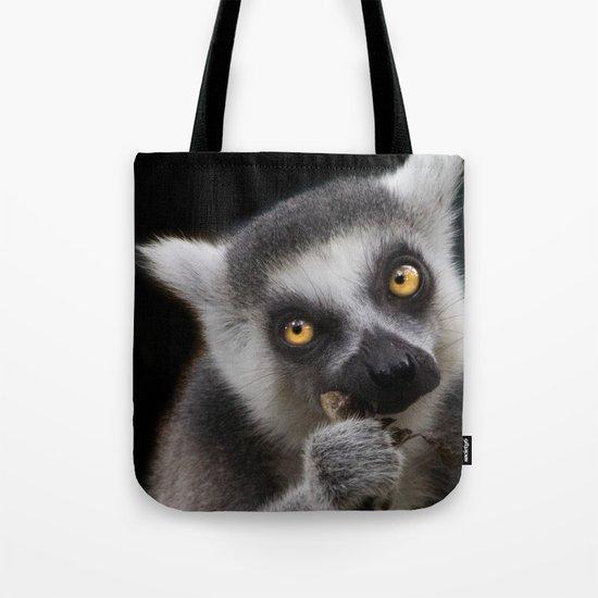 Lemur eating Tote Bag