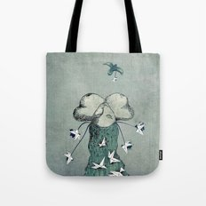 Origami's passion -  a collaboration between Christelle Guilhen and Gwenola de Muralt Tote Bag
