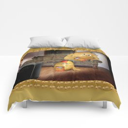 Father And Son Couch Potatoes Comforters