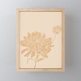 Chrysanthemum Neutrals Framed Mini Art Print