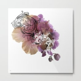 L'Orchidée Metal Print