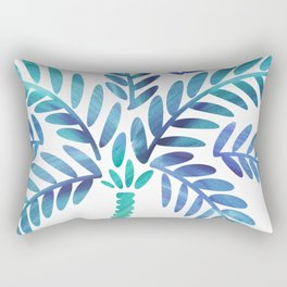 Whimsical Watercolor Palm Tree Rectangular Pillow