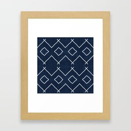 Bath in Navy Framed Art Print