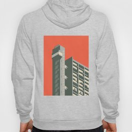 Trellick Tower London Brutalist Architecture - Plain Red Hoody