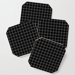 Grid Simple Line Black Minimalist Coaster