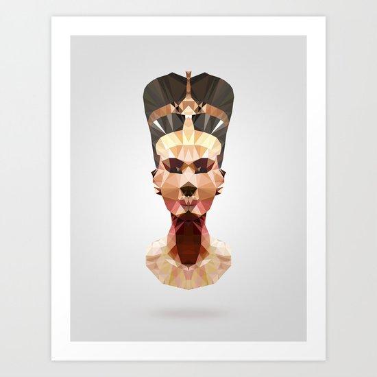 Polygon Heroes - Nefertiti Art Print