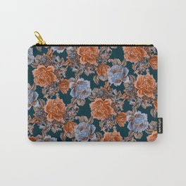 English Garden - Burnt Sienna/Navy Carry-All Pouch