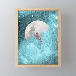 FLOATING TO THE MOON Framed Mini Art Print