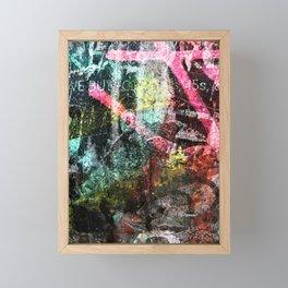 We Buy 45's Framed Mini Art Print