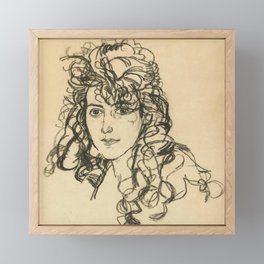 "Egon Schiele ""Mädchenkopf (Frau Sohn)"" Framed Mini Art Print"