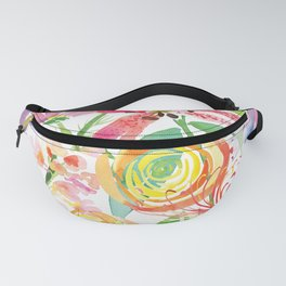 Bold Florals Fanny Pack