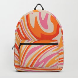 70s Retro Swirl Color Abstract Backpack