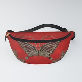 Wonderful butterlies with flowers Fanny Pack