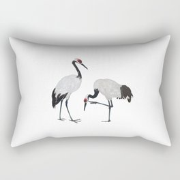 Red-crowned Cranes Rectangular Pillow