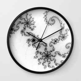 detail on mandelbrot set - starfish Wall Clock