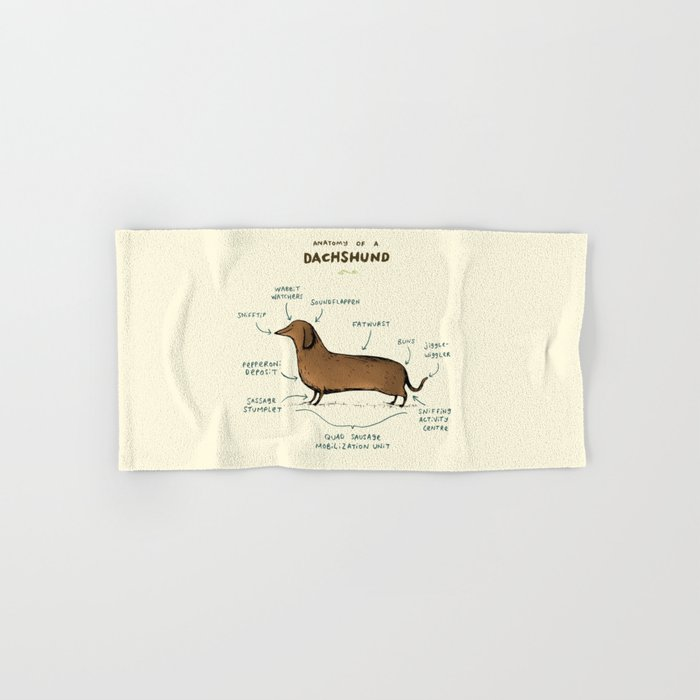 Anatomy of a Dachshund Hand & Bath Towel