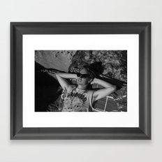 la dane Framed Art Print