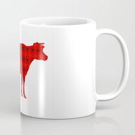 Cow: Red Plaid Coffee Mug