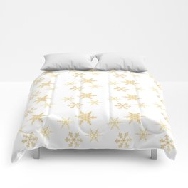 Snowflakes on White Comforters