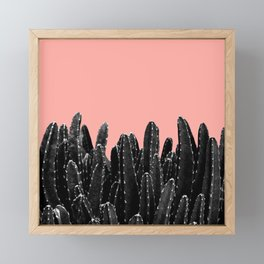 Black Cacti Dream #2 #minimal #decor #art #society6 Framed Mini Art Print