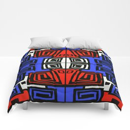 Blue & Red Comforters