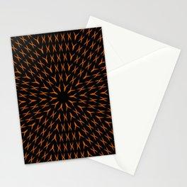 PCT2 Fractal in Orange on Black Stationery Cards