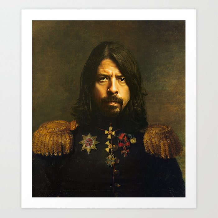 Dave Grohl - replaceface Kunstdrucke