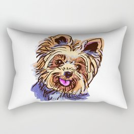 The cute smiley Yorkie love of my life! Rectangular Pillow
