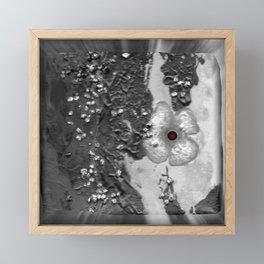 Poppy in the dark S50 Framed Mini Art Print