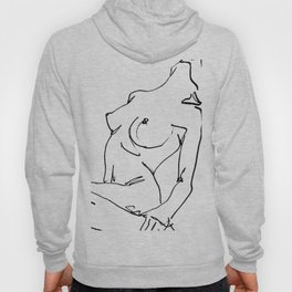 Nude drawing Hoody