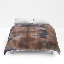 Copper and Iron abstract pattern Comforters