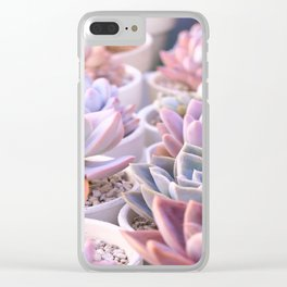 PASTEL SUCCULENTS Clear iPhone Case