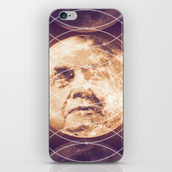 Man in the Moon Phases iPhone & iPod Skin