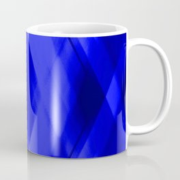 Hot triangular strokes of intersecting sharp lines with cornflower triangles and stripes. Coffee Mug