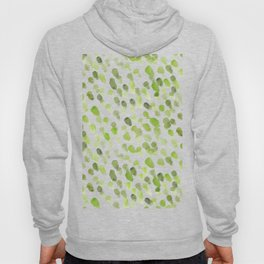 Imperfect brush strokes - olive green Hoody