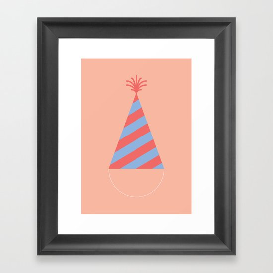 #43 Party Hat Framed Art Print