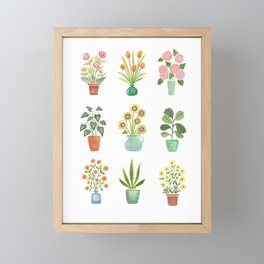Mini Flower Garden Framed Mini Art Print