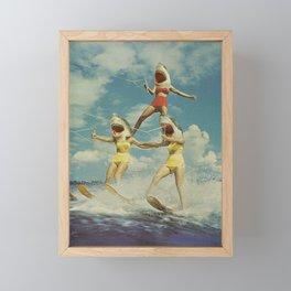 On Evil Beach - Sharks Framed Mini Art Print