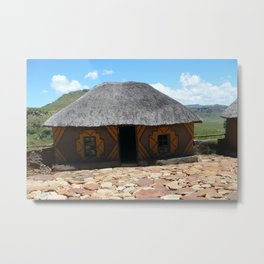 Thatch roof house Metal Print