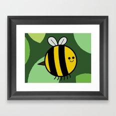 Cutesy Crawlies — Bumblebee Framed Art Print