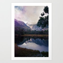 Mirror Lakes Art Print