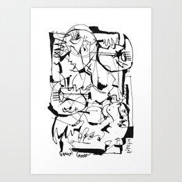 The Cycle - b&w Art Print